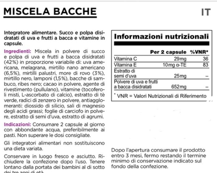 Juice plus, etichetta dieta - www.alimentazionesumisura.com